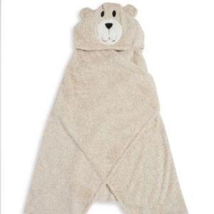 Other - Hooded Faux Fur Teddy Bear Blanket